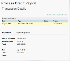 First Payment Made 4999USD To Wigs for Kids 10th August