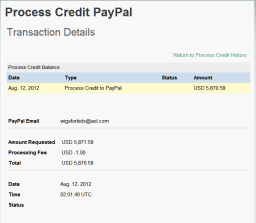 Second Payment Made 5870.59USD To Wigs for Kids 11th August