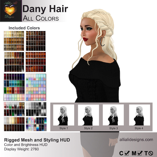 A&A Dany Hair All Colors-pic