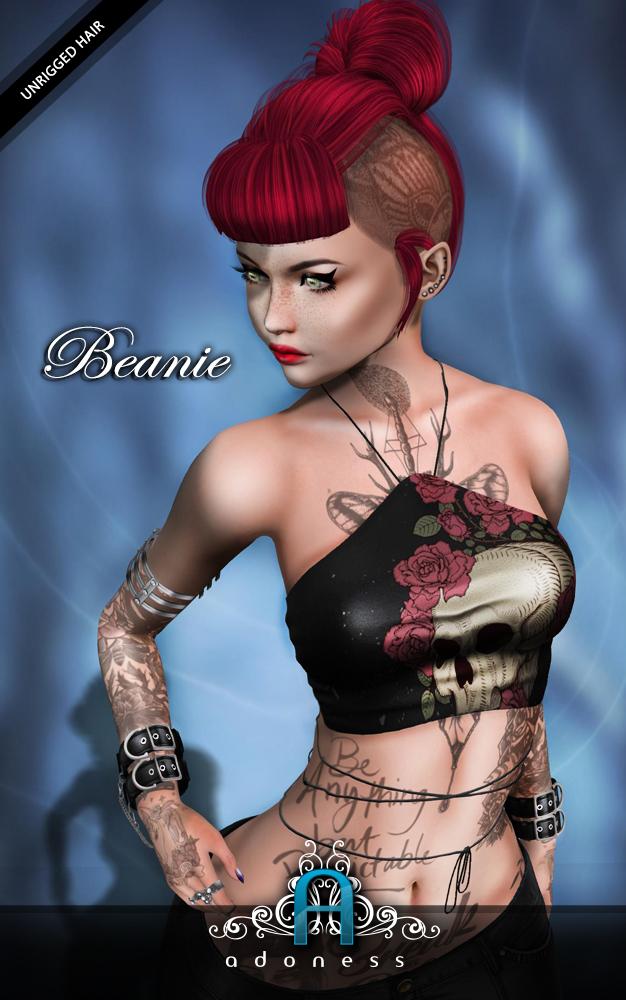 adoness - v-beanie-Hair Fair