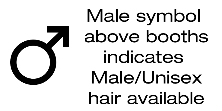 Male Hair Sign