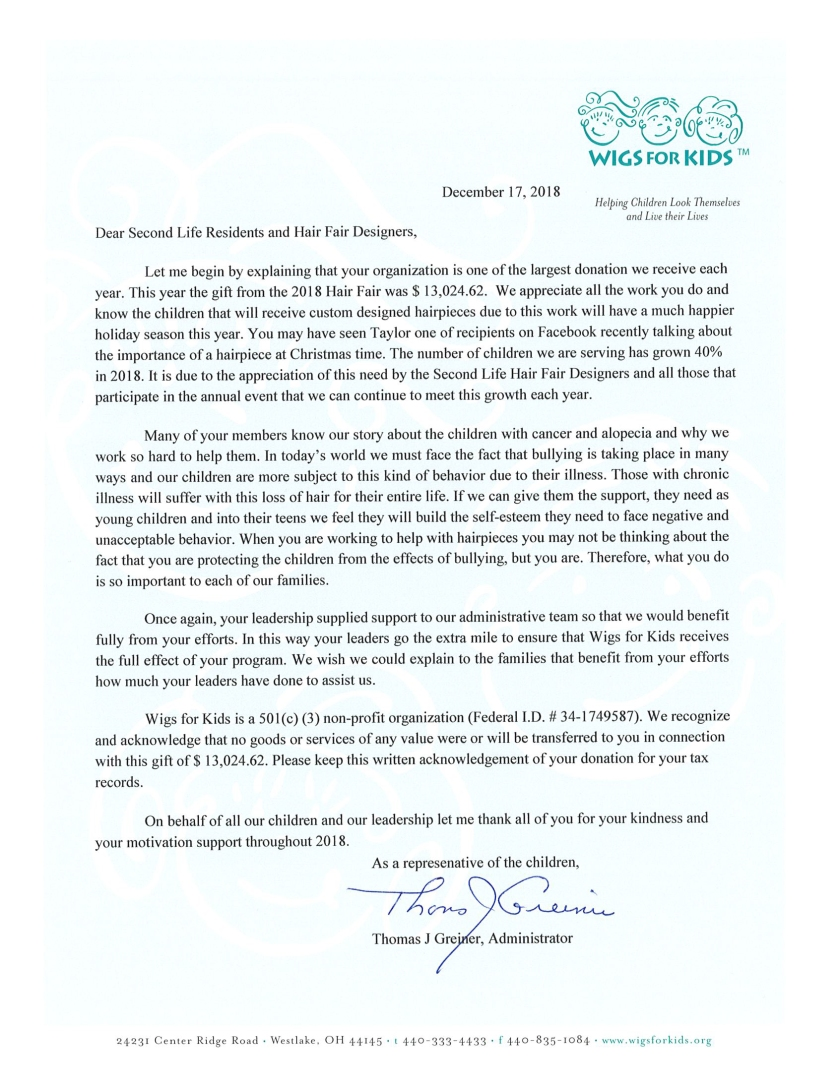 2018 Recognition Letter to Hair Fair -Dec 2018