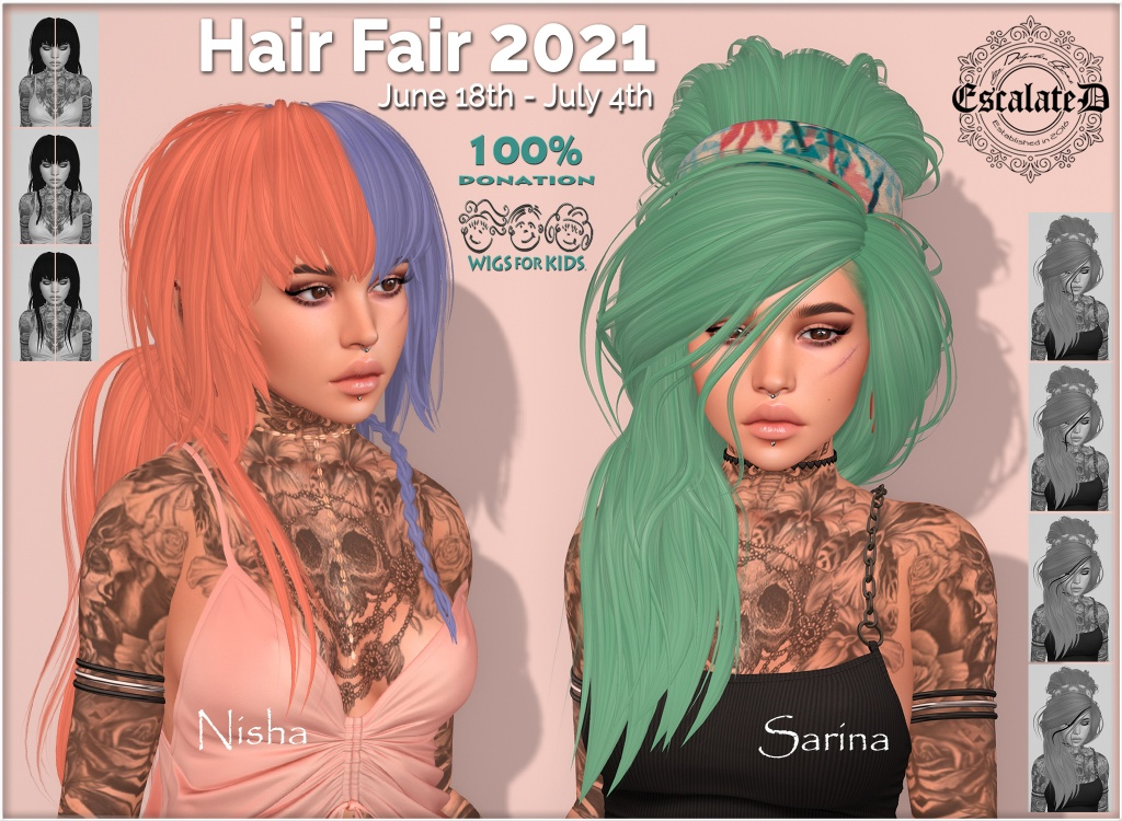 This image has an empty alt attribute; its file name is escalated.hairfair2021.poster.jpg